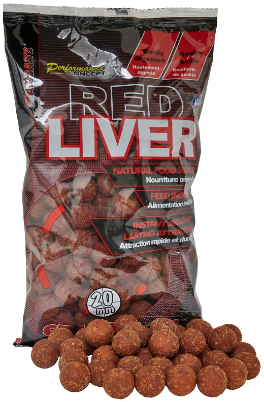Boilies STARBAITS Red Liver 1kg