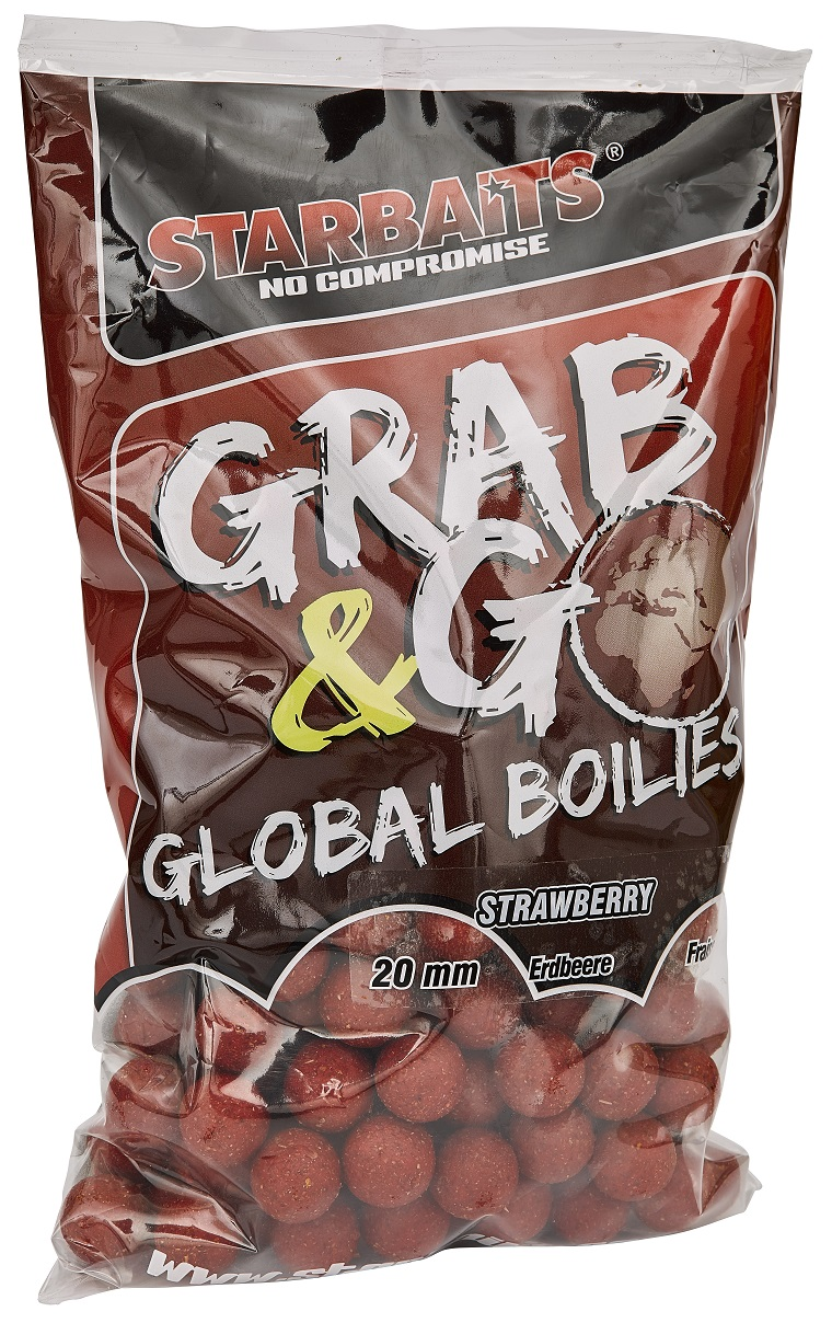 Starbaits Grab & Go Global boilies STRAWBERRY JAM 20mm 1kg