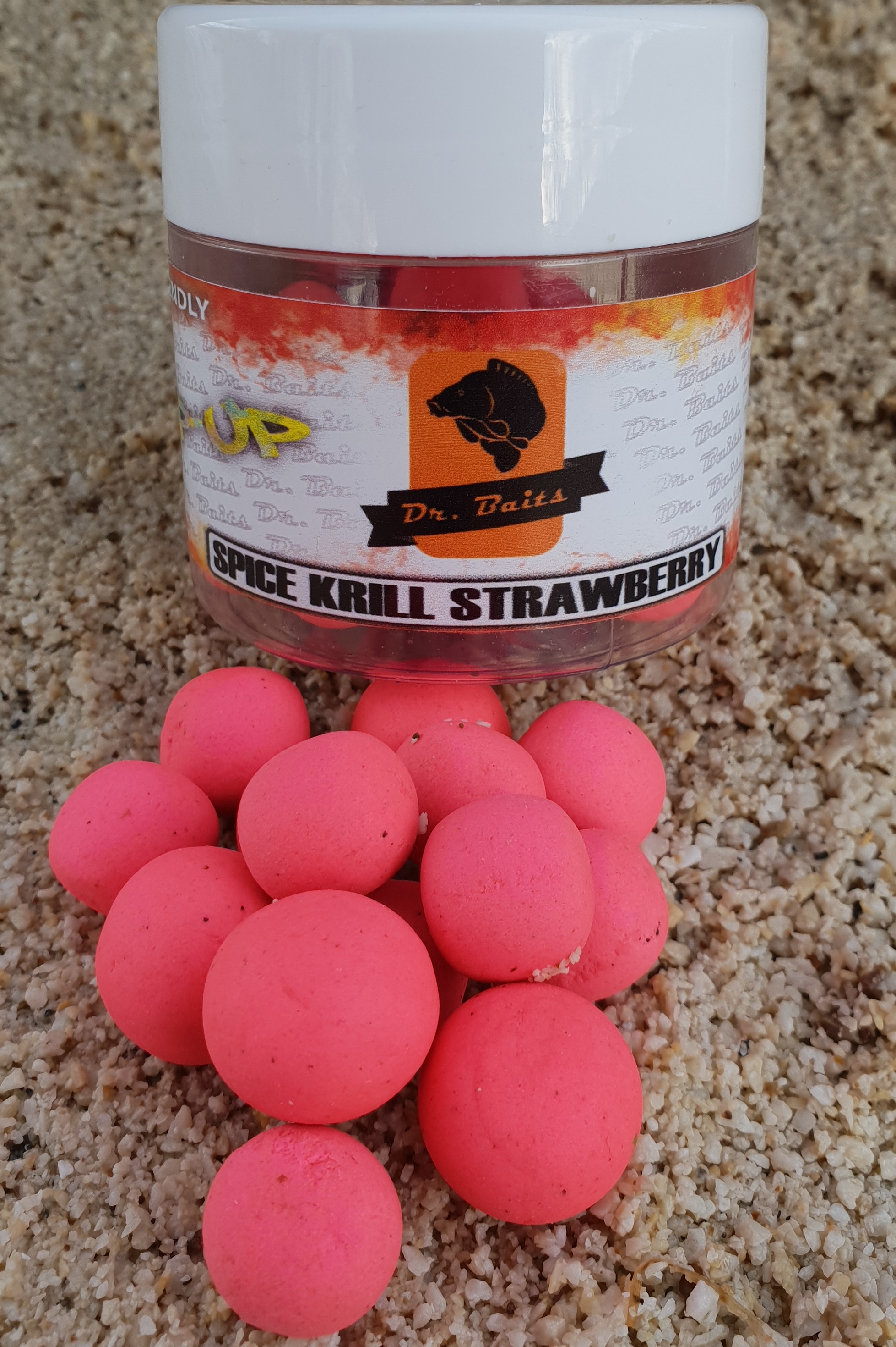Dr.Baits Spice krill strawberry Pop Up 50g 16-14mm
