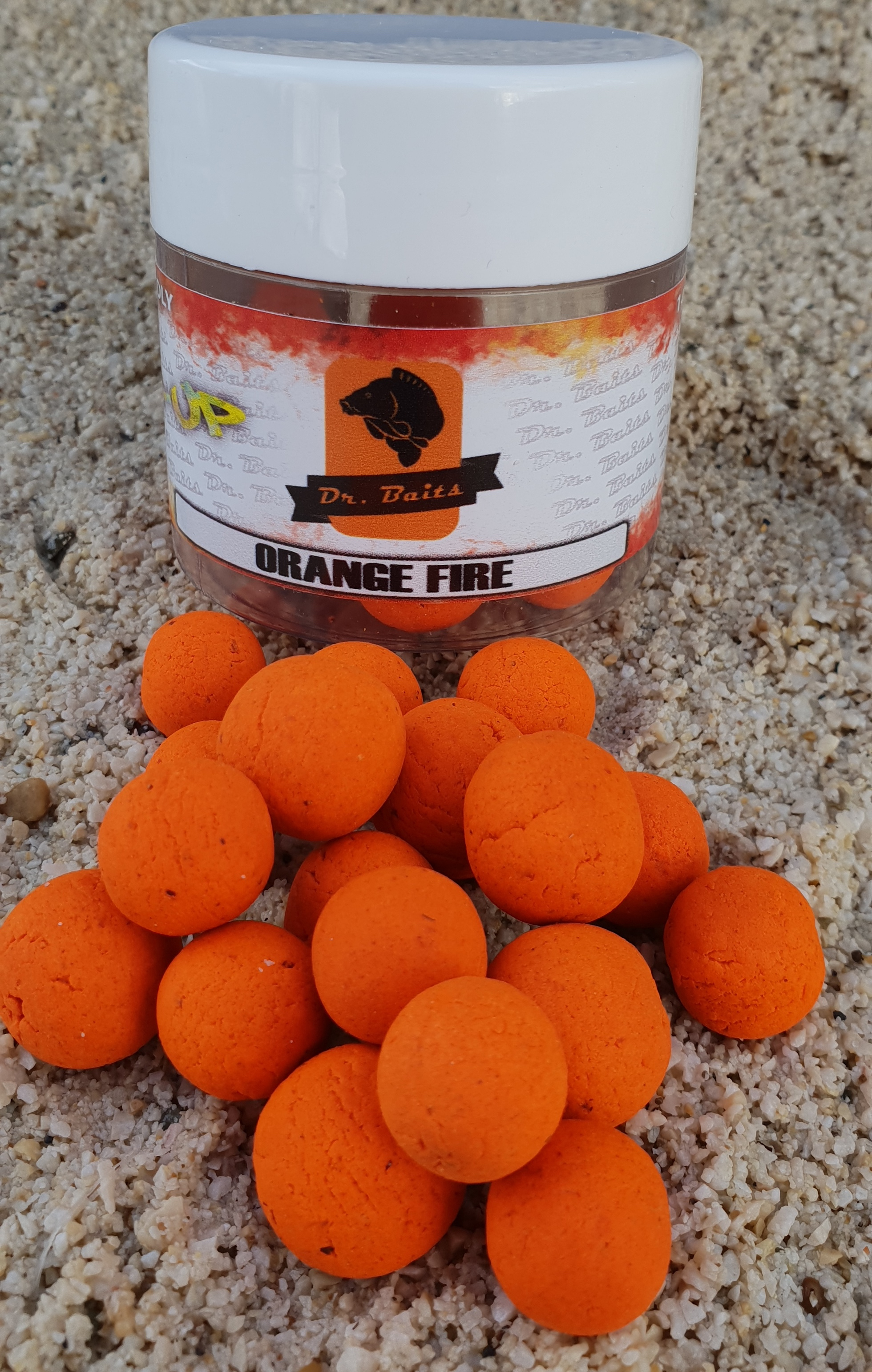 Dr.Baits Orange fire Pop Up 50g 16-14mm
