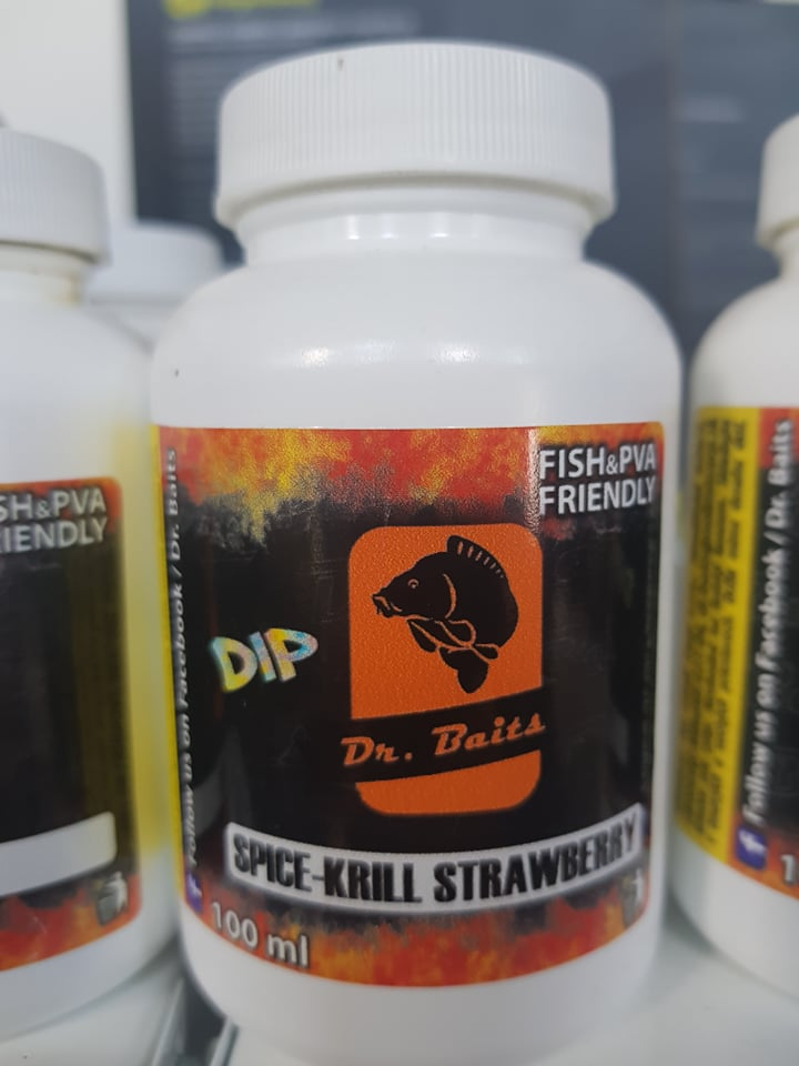Dr.Baits Spice krill strawberry DIP 250ml