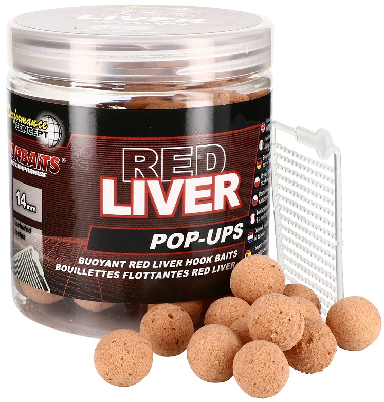 Starbaits Red Liver Pop Up boilies 80g