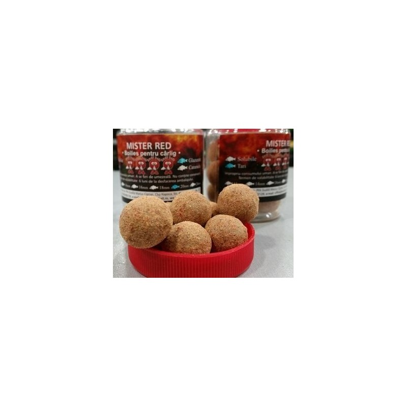 DUDI BAIT Chytacie boilies soluble MISTER RED 100gr 20mm