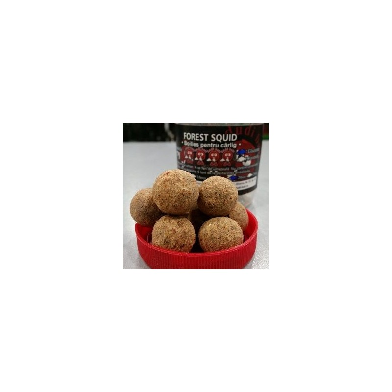 DUDI BAIT Chytacie boilies soluble FOREST SQUID 100gr 20mm