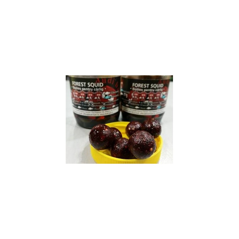 DUDI BAIT Chytacie boilies soluble v dipe FOREST SQUID 100gr